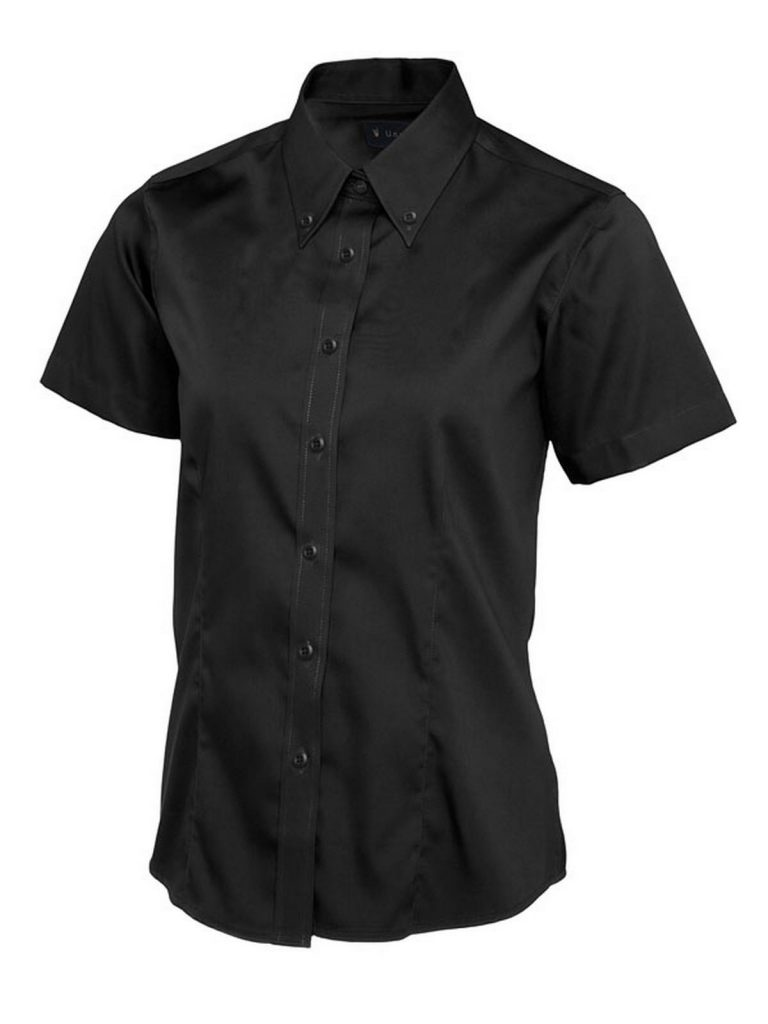 Ladies Pinpoint Oxford Half Sleeve Shirt
