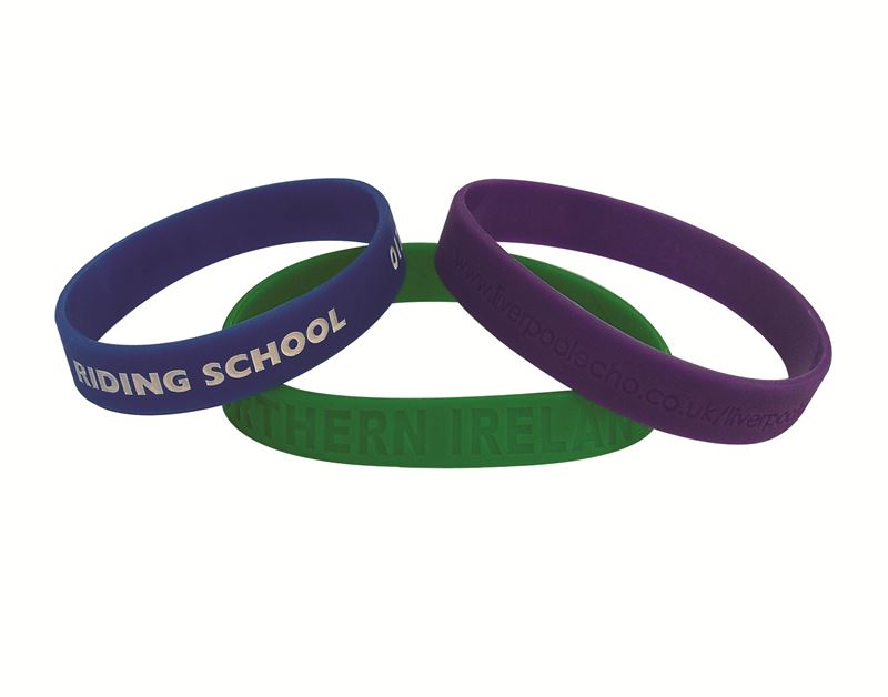 Debossed Silicon Wristbands