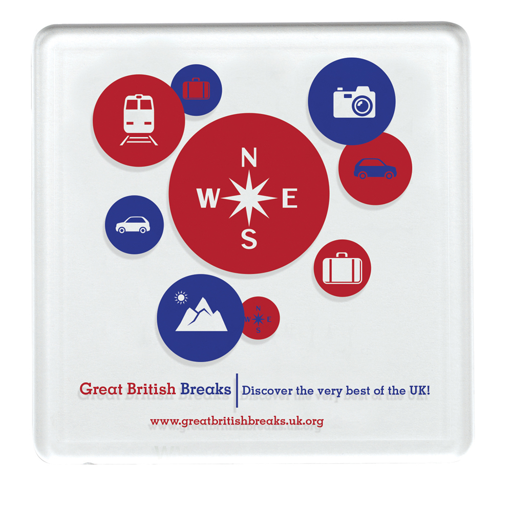Square Plastic Coaster