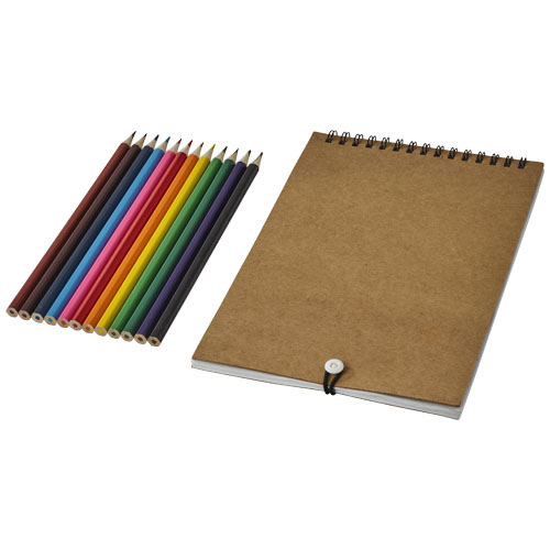 Claude colouring set with notebook