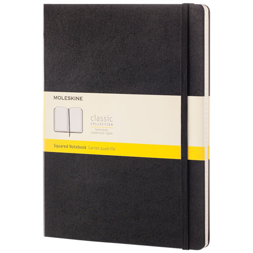 Classic XL hard cover notebook - squared