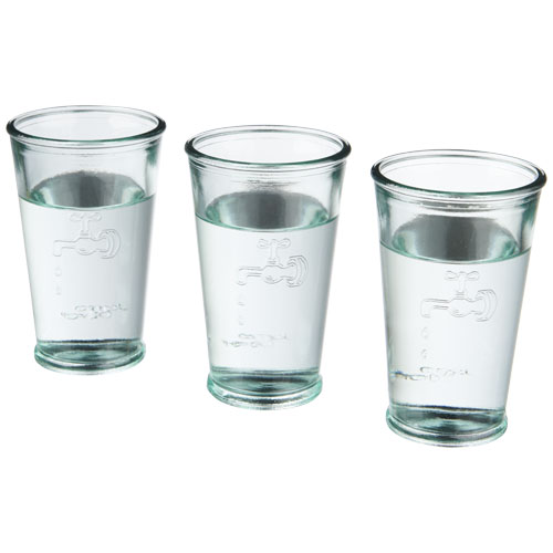Ford 3-piece water glass set from recycled glass
