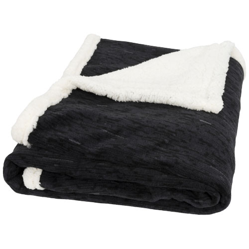 Sam heathered fleece plaid blanket