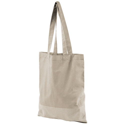 Aylin 140 g/m² silver lines cotton tote bag